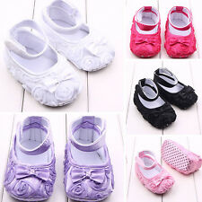 Princess Children Rose Infant New Baby Girls Boys Shoes Kids Soft Soles Bowknot