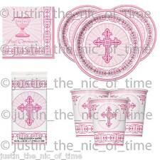 Holy First 1st Communion PINK Girl Party Tableware Catering Supplies