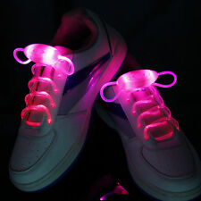 LED Shoelaces Flash Light Up Glow Stick Strap Shoe Laces Disco Party Hot 1Pair