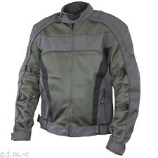 Xelement Men's 6016 Tri-Tex Mesh Grey Level-3 Armored Motorcycle Jacket