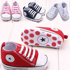 Babys Infant Toddler Boy Girl Kids Soft Sole Canvas Shoes Sneaker Newborn 0-18M