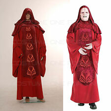 Star Wars Emperor Palpatine Darth Sidius Cosplay Costume Dark Red Robe Halloween