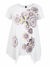 Sourced By Lovedrobe Plus Size Womens Kaleidoscope Print Tunic In White