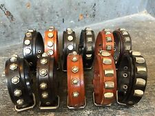 Retro Punk Cool Men Womens Genuine Leather Belt Bracelet Cuff Wristband Bangle