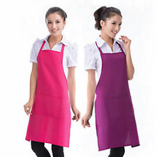 Unisex Men Womens Cooking Kitchen Chef Restaurant Plain Apron Dress With Pocket