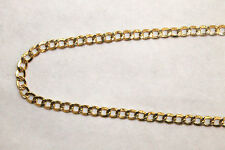 "10K Yellow Gold Hollow Cuban Link Chain Necklace 4.5MM 20"" - 24"" inches"