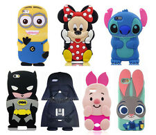 Cute 3D Cartoon Animals Soft Silicone Case Cover For Apple Sansung LG Phones