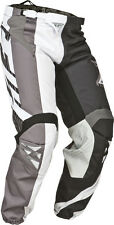 Fly Racing Black/White Mens & Youth Kinetic Division Race Dirt Bike Pants MX