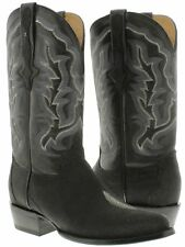 mens black real stingray skin diamond stone leather western cowboy boots round