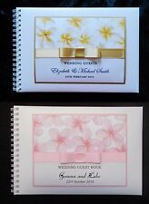 A5 Frangipani Personalised Guest Book in  Box for any Occasion + Optional Sign