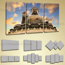 Large Framed Contemporary Home Room Decor Wall Art Print Canvas Feng Shui Buddha