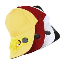 Summer Outdoor Baseball Hat Cap with Solar Sun Power Cool Fan For Sport Cycling