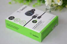Belkin 2.1A 2-Port Car Charger & Micro-USB Cable For Samsung, Iphone With packge
