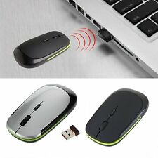 Wireless Optical Mouse 1600 DPI 2.4GHz Ultra-Slim Mini USB for Laptop PC Mac HE
