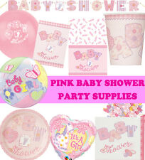 Pink Girl Baby Shower Party Supplies Tableware Baby Shower Decorations
