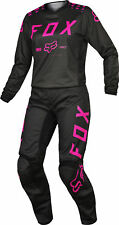 Fox Racing Womens Black/Pink 180  Dirt Bike Jersey & Pants Kit Combo MX ATV BMX
