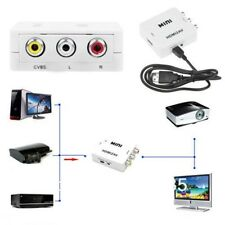 1080P Mini HDMI to RCA&3RCA to HDMI Video AV CVBS Adapter/Converter For HDTV HS
