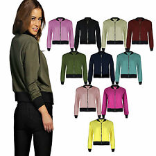 New Ladies Womens Ma1 Summer Stylish Vintage Lightweight Bomber Jacket Coat Top