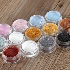13pcs Mixed Colors Glitter Loose Powder Eyeshadow Eye Shadow Cosmetics Salon Set