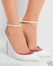 JIMMY CHOO LUC White Red PVC Leather Pumps