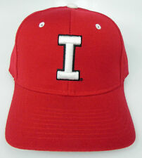 INDIANA HOOSIERS THROWBACK RED NCAA VINTAGE FITTED ZEPHYR DH CAP HAT NWT! RARE