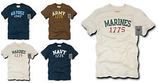 Army Air Force Navy Marines Applique Military T-Shirt T-Shirts Tees S M L XL 2X