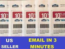 LATEST LOWES 10% OFF COUPONS Print at Home IN STORE  FAST EMAIL - EXP 1/15/2017