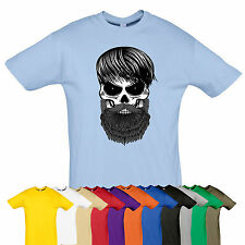 HIPSTER Skull tee Rock biker top t-shirt Many size Gift GOTH PUNK color