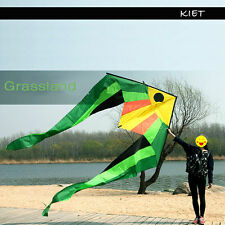 HUGE BREEZE RIPSTOP NYLON SINGLE LINE FISH KITE OUTDOOR SPORT TOY FUN