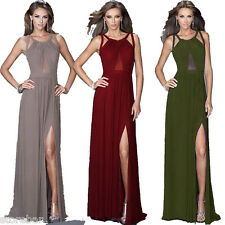 New Sexy Prom Gown Cross Braces Back Woman Slit Long Dinner Dress Party Evening