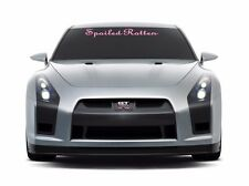 Spoiled Rotten windshield banner decal sticker, choice of size & color