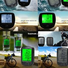 WIRELESS WATERPROOF BICYCLE BIKE CYCLE COMPUTER SPEEDOMETER ODOMETER BACKLIGHT