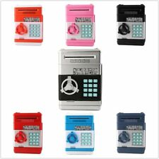 Kids Electronic Money Safe Box Password Saving Bank ATM for Coins and Bills AHL