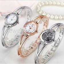 Women Crystal Dial Stainless Steel Watch Fashion Analog Quartz Wristwatch