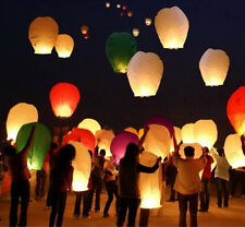 10pc Chinese Paper Lanterns Sky Flying Kongming Wishing Lamp Wedding Party