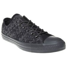 New Mens Converse Black All Star Ox Canvas Trainers Lace Up