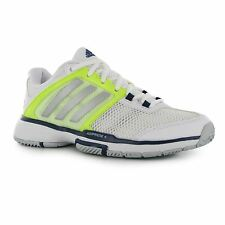 Adidas Barricade Court Tennis Shoes Womens White Court Trainers Sneakers