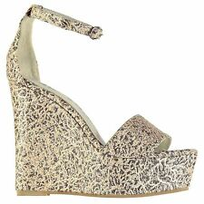 Jeffrey Campbell Anya Wedge Sandal Shoes Womens Nude Fashion Footwear