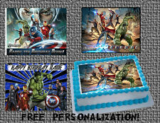 The AVENGERS Edible Birthday cake Decoration topper picture for icing sheet hulk