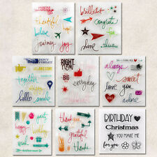 Silicone Rubber Clear Stamp Seal Scrapbooking Photo Card Making DIY Crafts Derco