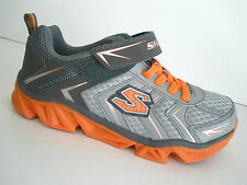 SKECHERS 95425 MAZER Z-STRAP ATHLETIC SHOES-YOUTH/BOYS SHOES - GY/OR- NEW- #4260