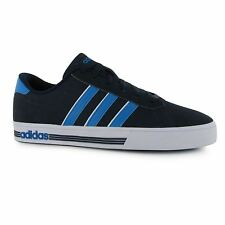 Adidas Daily Team Nubuck Trainers Mens Navy/Blue/White Casual Sneakers Shoes