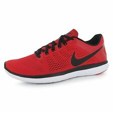 Nike Flex 2016 Run Running Shoes Mens Red/Black Fitness Sports Trainers Sneakers