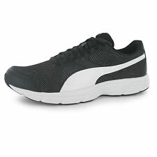 Puma Axis Mesh Running Shoes Mens Black/White Fitness Sports Trainers Sneakers