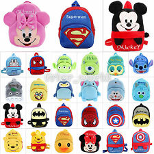 Children Kids Soft Plush Travel Snacks School Bag 3D Cartoon Rucksack Backpack