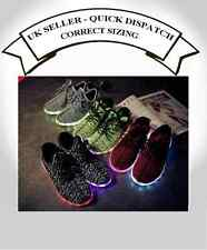 Light Up LED Shoes Sneakers Trainers Rave Glow flash Unisex Yeezy Boost style