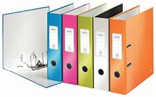 Durable Office Filing Supply Leitz Wow A4 Assorted Lever Arch 80mm Files 10 Pack