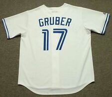 KELLY GRUBER Toronto Blue Jays 1992 Majestic Cooperstown Home Baseball Jersey