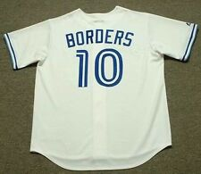 PAT BORDERS Toronto Blue Jays 1992 Majestic Cooperstown Home Baseball Jersey