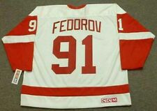 SERGEI FEDOROV Detroit Red Wings 2002 CCM Throwback Home NHL Hockey Jersey